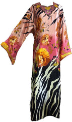 Zebra-print Floral Collection Kimono Kaftan - Arabic Islamic Shopping Store - 1