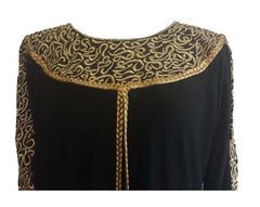 Royal Arabian Fancy Thobe Dress - Braided Borders - Arabic Islamic Shopping Store - 3