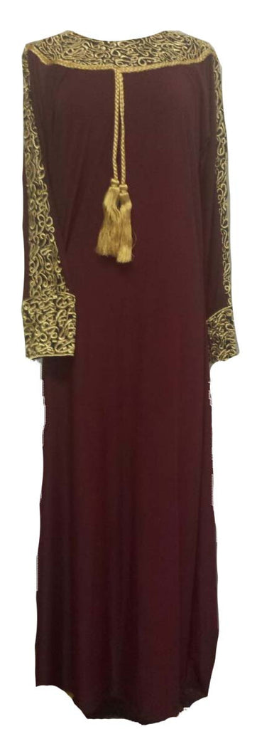 Royal Arabian Fancy Thobe Dress - Braided Borders - Arabic Islamic Shopping Store - 1