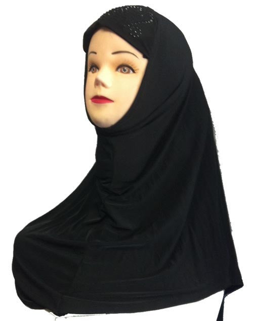 Black Beaded Hijab for Muslim girls - Arabic Islamic Shopping Store