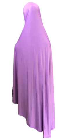 Knee Length Single-colored Hijabs for Muslim Women