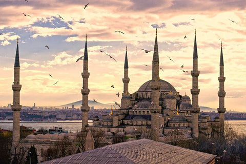 Turkey Blue Mosque (Sultan Ahmed Mosque) Islamic Poster - Arabic Islamic Shopping Store