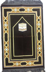 Elegant Makkah Design Prayer Rug - Arabic Islamic Shopping Store - 2