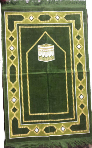 Elegant Makkah Design Prayer Rug - Arabic Islamic Shopping Store - 1