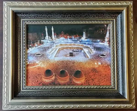 Islamic Wall Decor with nice frames. Haram Mosque with Kaaba - Arabic Islamic Shopping Store