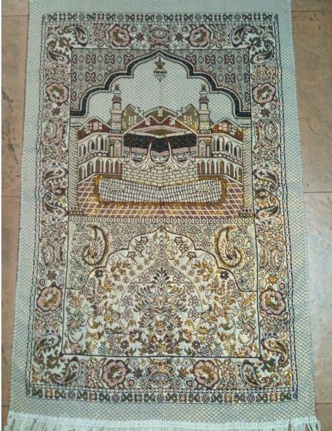 Elegant Makkah Prayer Rug - Arabic Islamic Shopping Store