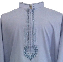 Stylish Pakistani Blue Shalwar Kameez for Men - Arabic Islamic Shopping Store - 2