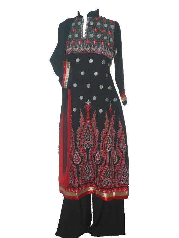 Ladies Pakistani Pants Kameez With Embroidery Islamic Clothing