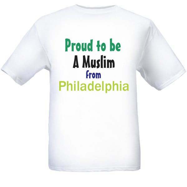 Muslim T-Shirts Clothing - Philadelphia, Pennsylvania logo design for men and women - Arabic Islamic Shopping Store