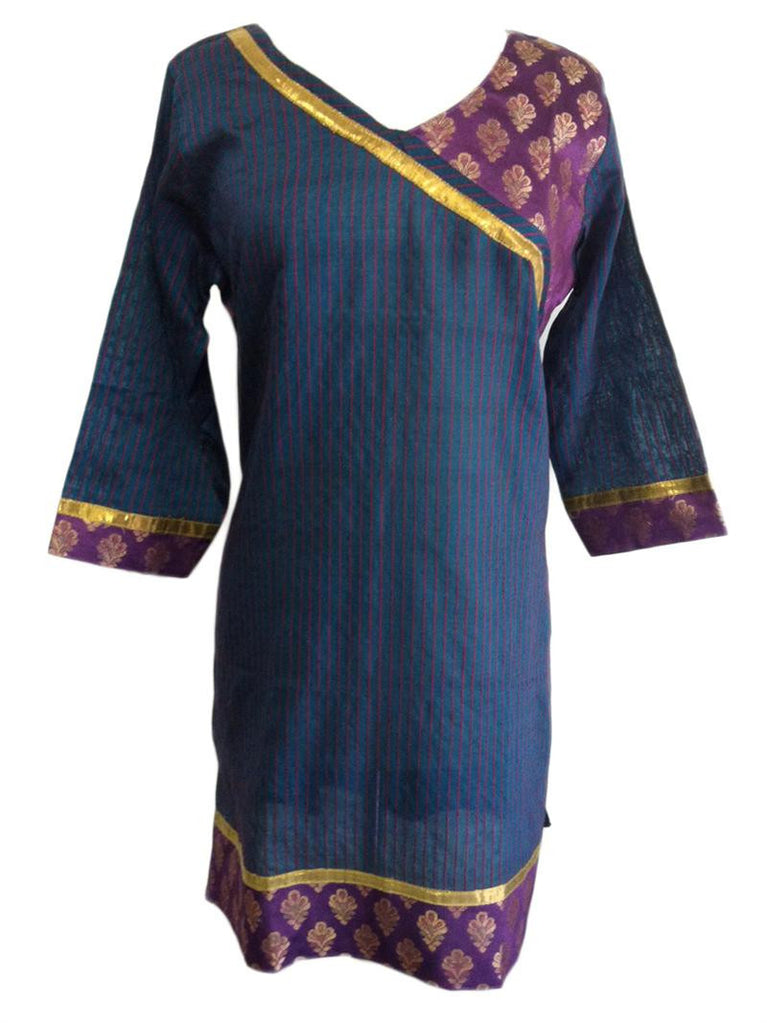 Banarasi Brocade Designed Women's Tunic Top - Arabic Islamic Shopping Store