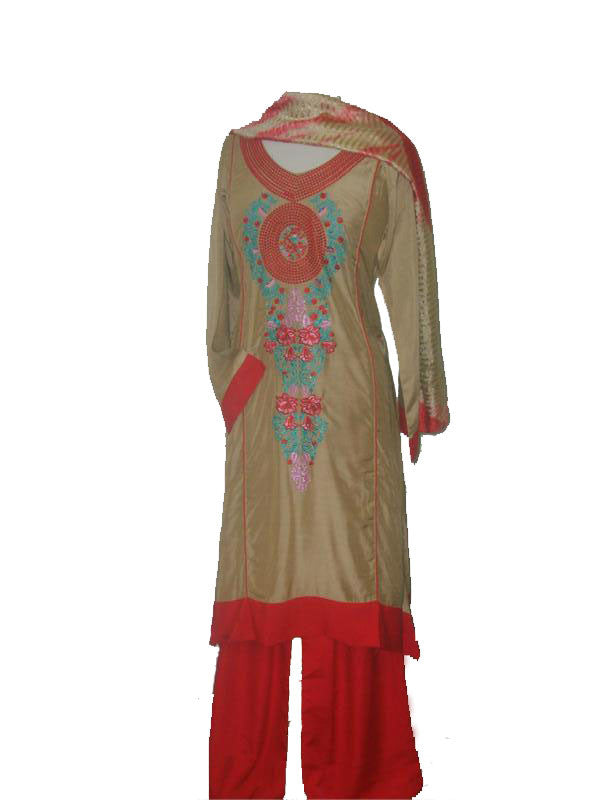 Elegant Silk/Cotton mix Ladies' Shalwar Kameez - Arabic Islamic Shopping Store - 1