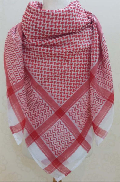 Men S Arab Quot Shemagh Quot Head Scarf Red And White Shemagh