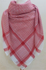 "Men's Arab ""Shemagh"" (Head Scarf) - Red and White Shemagh - Arabic Islamic Shopping Store - 2"