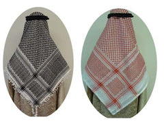 "Men's Arab ""Shemagh"" (Head Scarf) - Red and White Shemagh - Arabic Islamic Shopping Store - 3"