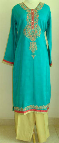 Cotton Shalwar Kameez with Embroidery - Arabic Islamic Shopping Store - 1