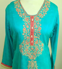 Cotton Shalwar Kameez with Embroidery - Arabic Islamic Shopping Store - 2