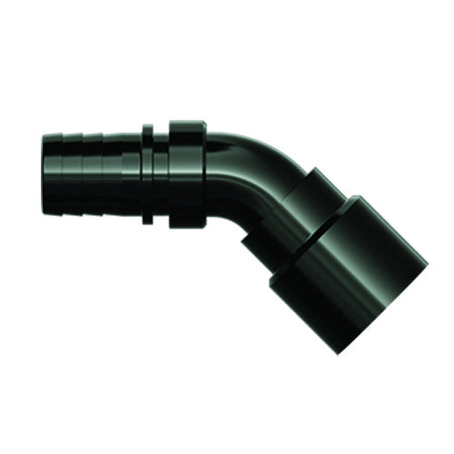 45 DEGREE ALUMINIUM WIGGINS 960 SERIES CRIMP FITTINGS FOR G LINE ULTRA HOSE