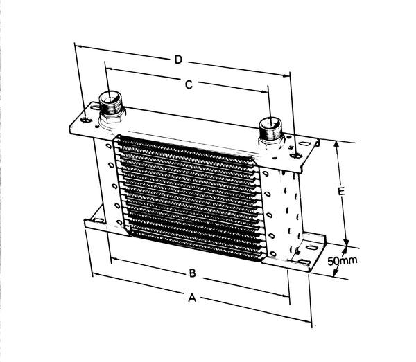OIL COOLER (WITH ADAPTORS)