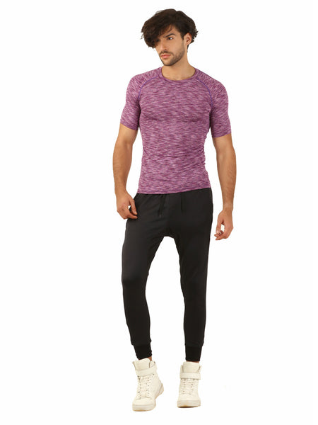 Anti-bacterial quick dry Purple T-Shirt