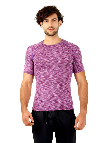 Anti-bacterial quick dry Purple T-Shirt - Zebo Active Wear