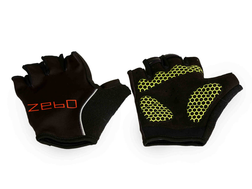 Training gloves- flex fit black light weight padding - Zebo Active Wear