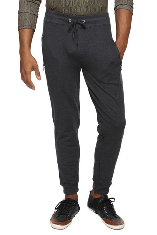 Slim fit cotton Joggers- Grey