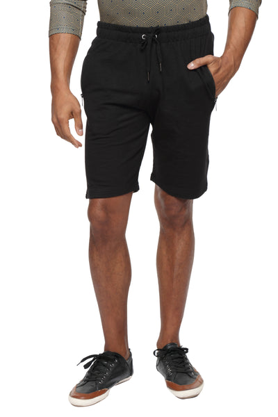 Cotton casual training Shorts- Black