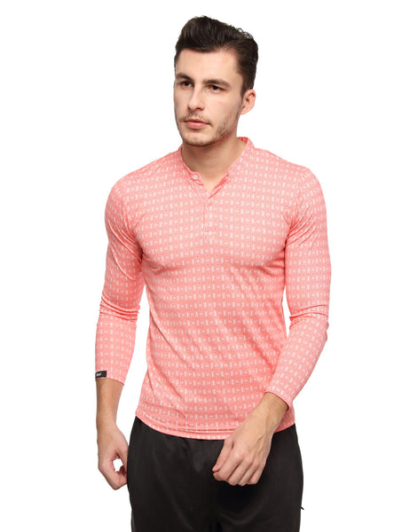 PERFORMA+ GeoMetro full sleeve Henley - Zebo Active Wear