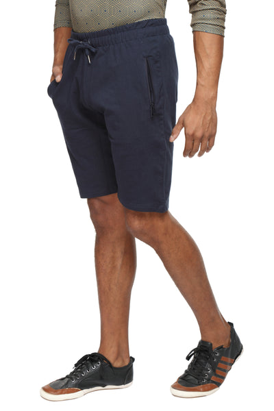 Cotton casual training Shorts- Navy Blue