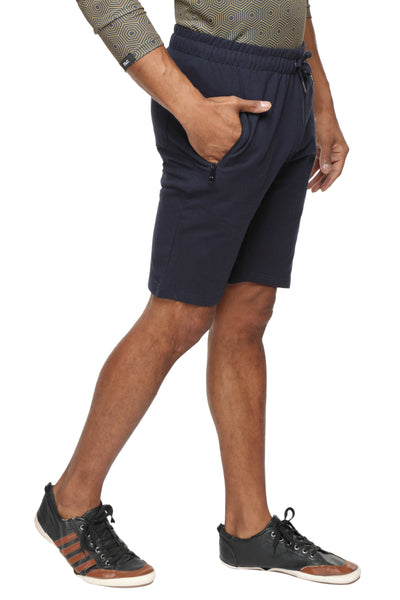 Cotton casual training Shorts- Navy Blue - Zebo Active Wear