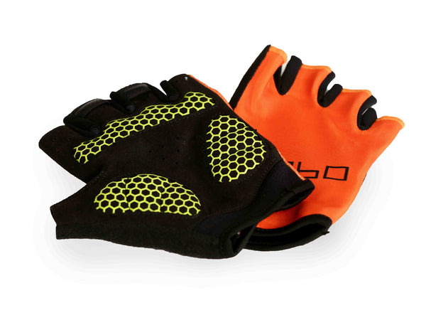 Training gloves- flex fit orange light weight padding - Zebo Active Wear