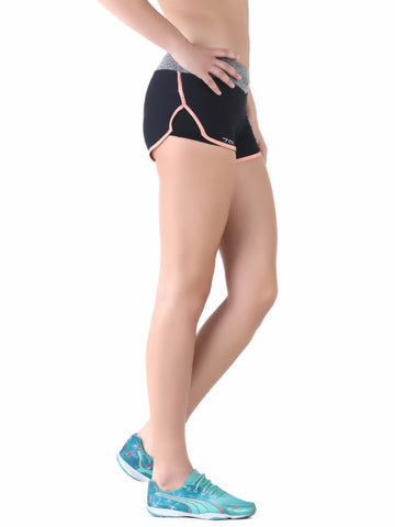 Anti-bacterial quick dry shorts (peach lining) - Zebo Active Wear