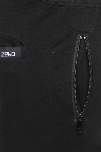 Slim fit cotton Joggers- Black - Zebo Active Wear