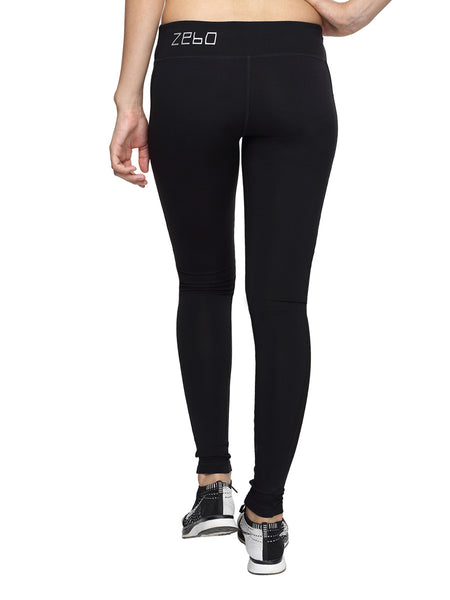 Anti-bacterial ultra flex-quick dry leggings with side mesh