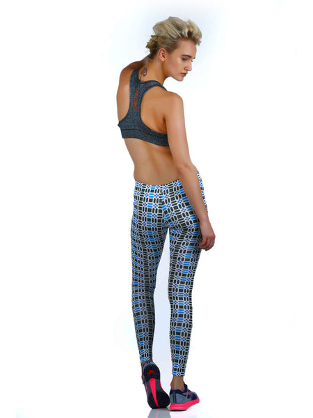 PERFORMA+ GeoBlue leggings - Zebo Active Wear