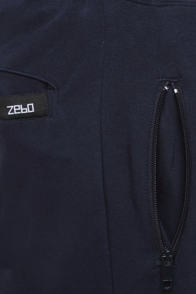 Slim fit cotton Joggers- Navy Blue - Zebo Active Wear