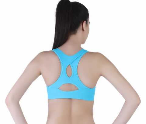 Anti-bacterial high impact padded training bra