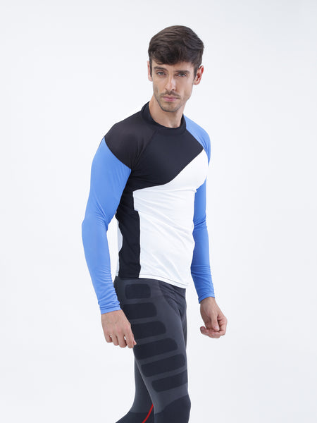 Full sleeve compression top - BlueWave - Zebo Active Wear