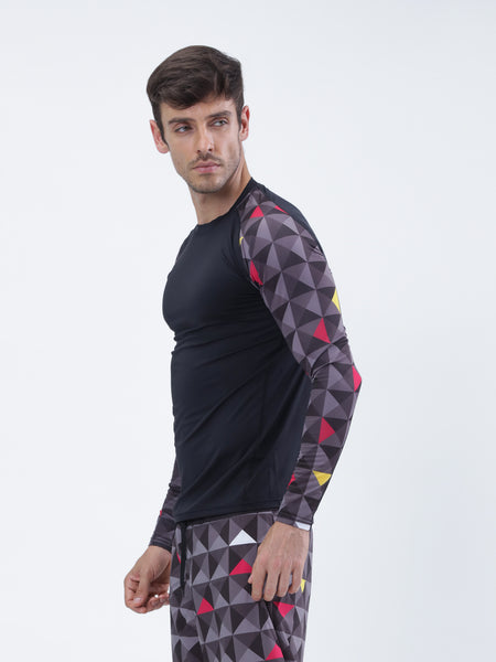 AbsArt full sleeve compression top - Zebo Active Wear