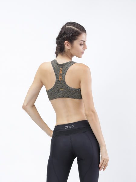 PERFORMA+ GeoHex Medium impact Training Bra - Zebo Active Wear