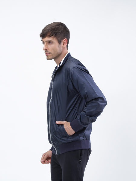 All weather navy blue poly jacket - Zebo Active Wear