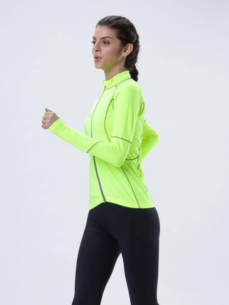 All weather anti bacterial flo green jacket - Zebo Active Wear