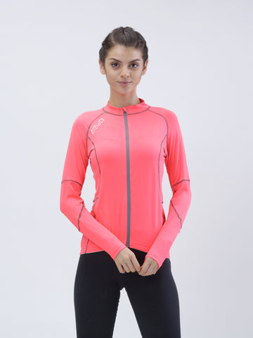All weather anti bacterial flo pink jacket - Zebo Active Wear