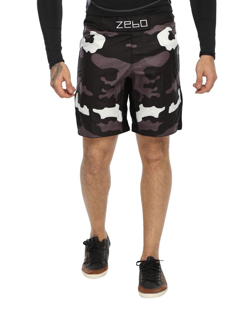 MMA Camo shorts with front Velcro - Zebo Active Wear