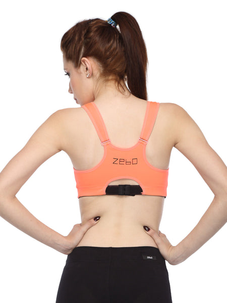 Front- close anti- bacterial high impact training bra - Zebo Active Wear