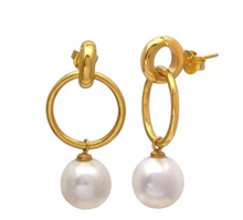 Load image into Gallery viewer, LAYLA PEARL GOLD EARRINGS
