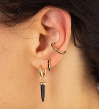 Load image into Gallery viewer, BLACK STONE SINGLE EAR CUFF