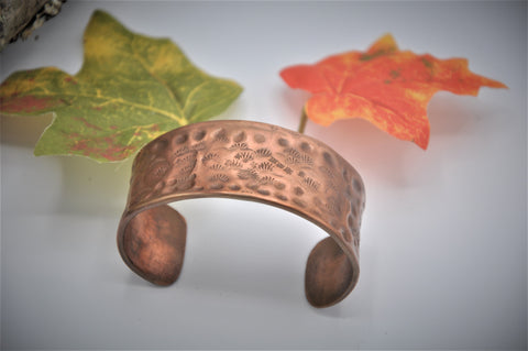 Patterned Copper Cuff