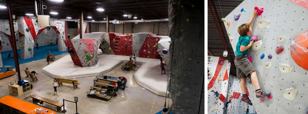 climbing center birthday party