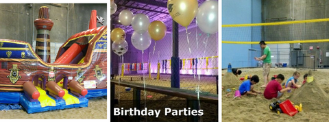 6pack indoor Beach kids birthday party